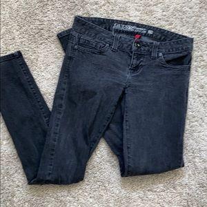 Guess black jeans daredevil skinny leg